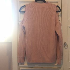 Pink cold shoulder sweater from H&M